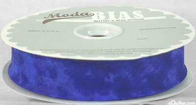 """Quilter's Bias Binding - 2 1/2"""" Wide - Marble - Royal Blue"""