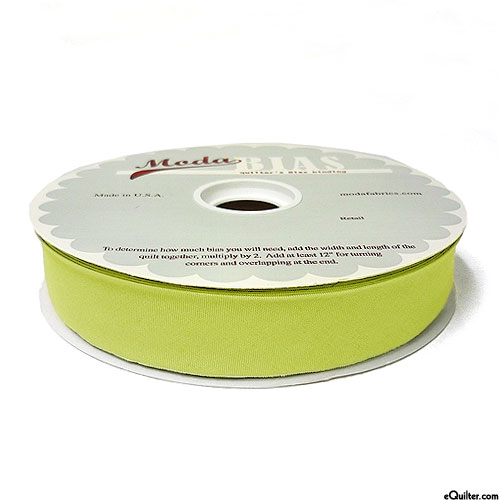 """Quilter's Bias Binding - 2 1/2"""" Wide - Solid - Chartreuse Green"""