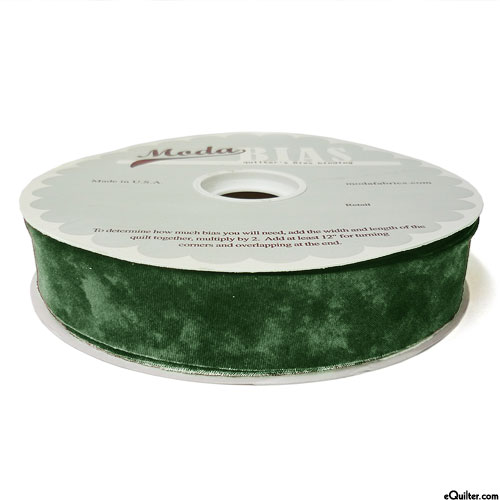 "Quilter's Bias Binding - 2 1/2"" Wide - Marble - Hunter Green"