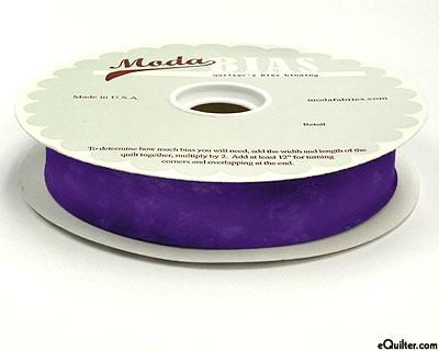 "Quilter's Bias Binding - 2 1/2"" Wide - Marble - Purple"