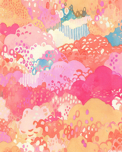 Fanciful Forest - Bright Treeline - Candy Pink
