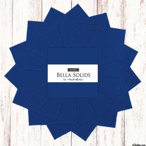 "Bella Solids - Royal Blue - 5"" Charm Pack"