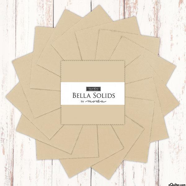 """Bella Solids - Parchment Beige - 5"""" Charm Pack"""