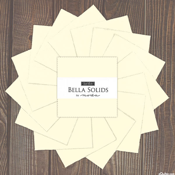 """Bella Solids - Ivory - 5"""" Charm Pack"""