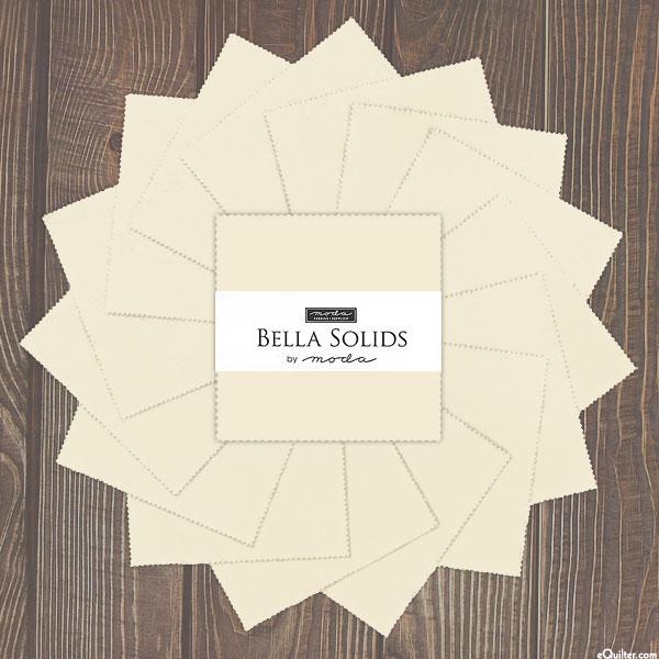 """Bella Solids - Porcelain - 5"""" Charm Pack"""