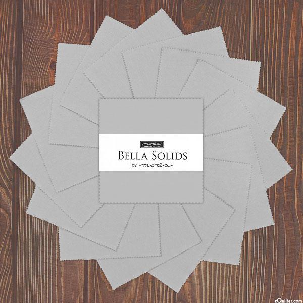"""Bella Solids - Zen Gray - 5"""" Charm Pack"""
