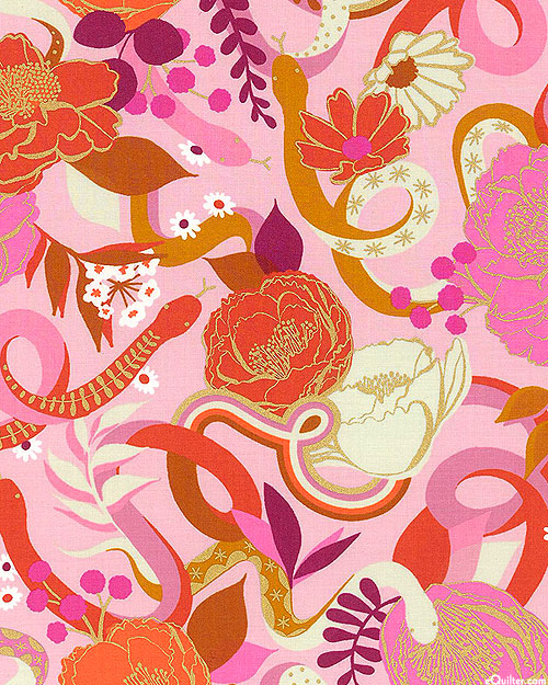 Rise - Garden Snakes - Candy Pink/Gold
