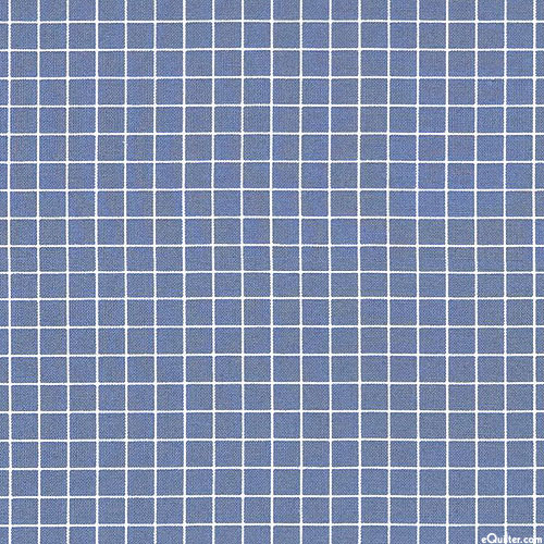 Grid - Perfect Squares - Steel Blue