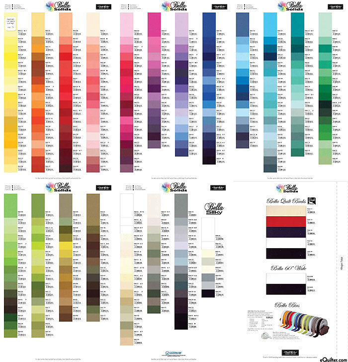 Bella Solids Complete Color Card