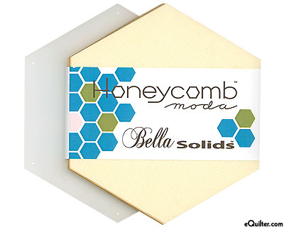 Honeycomb Bella Solids Hexagon Charm Pack - Snow