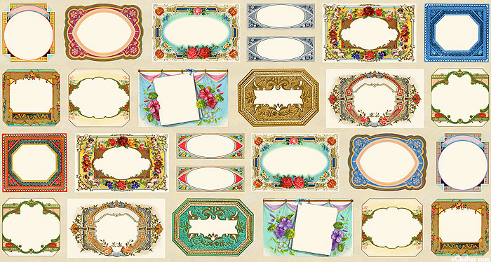 "Flea Market Moxie - Fancy Frames - 42"" x 44"" PANEL - DIGITAL"