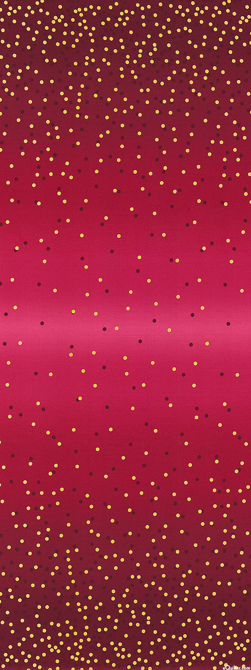 Ombre Confetti - Dot Party - Sangria Pink/Gold