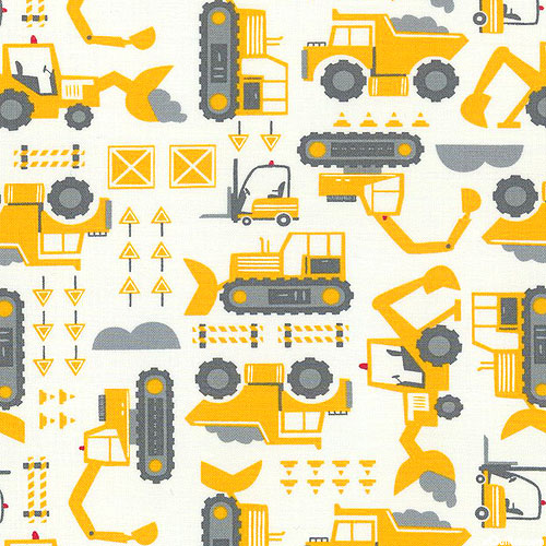 On the Go - Construction Vehicles - White
