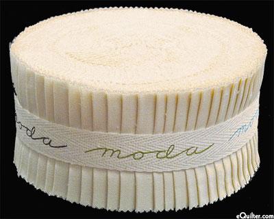 """Bella Solids Jelly Roll - Vanilla Cream - 2 1/2"""" Strips"""