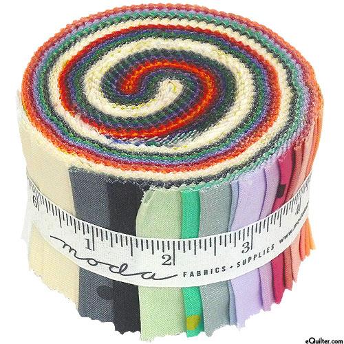 """Ombre Confetti Metallic - New Colors - 2 1/2"""" Mini Strip Rolls"""