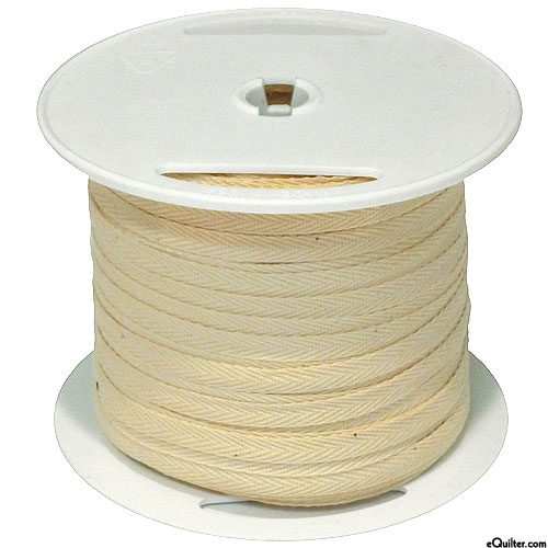 """Cotton Twill Tape - Natural - 1/4"""" Wide - 100 yd Spool"""