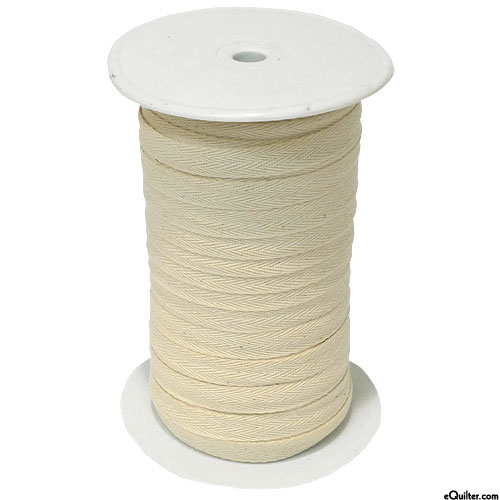 """Cotton Twill Tape - Natural - 1/2"""" Wide - 100 yd Spool"""