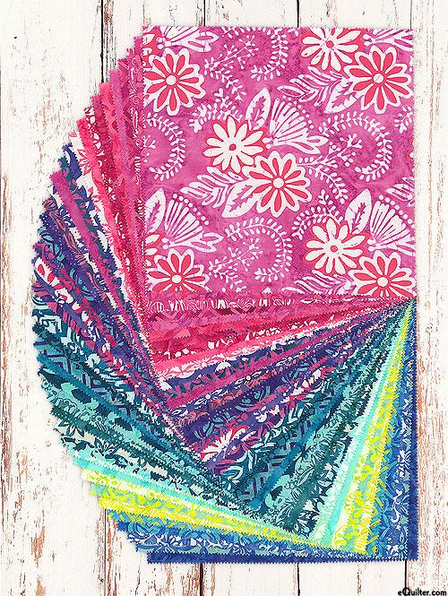 """Confection Batiks - 10"""" Squares"""