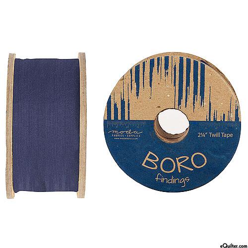 """Boro Findings - Twill Tape - Indigo - 2 1/4"""" WIDE"""