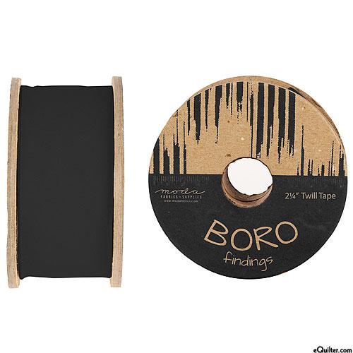 "Boro Findings - Twill Tape - Black - 2 1/4"" WIDE"