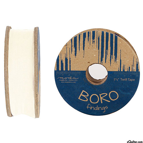 "Boro Findings - Twill Tape - Ivory - 1 1/2"" WIDE"