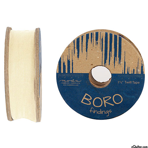 """Boro Findings - Twill Tape - Natural - 1 1/2"""" WIDE"""