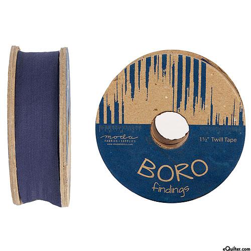 """Boro Findings - Twill Tape - Indigo - 1 1/2"""" WIDE"""