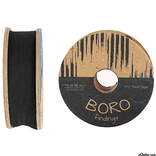 "Boro Findings - Twill Tape - Black - 1 1/2"" WIDE"