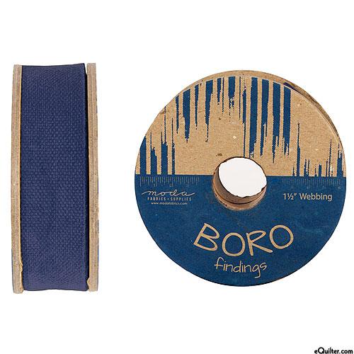 """Boro Findings - Webbing - Indigo - 1 1/2"""" WIDE"""
