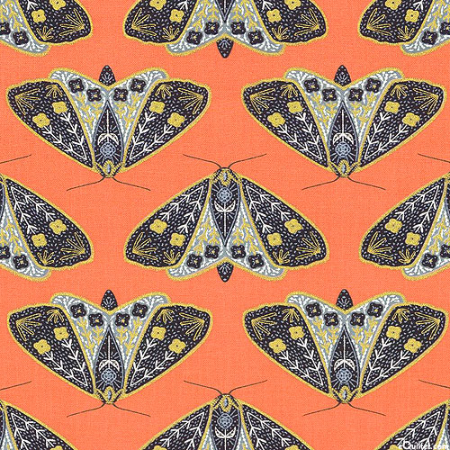 Dwell in Possibility - Golden Moths - Papaya/Gold