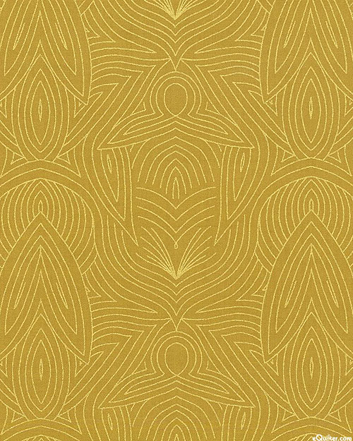 Dwell in Possibility - Metallic Waves - Honey/Gold
