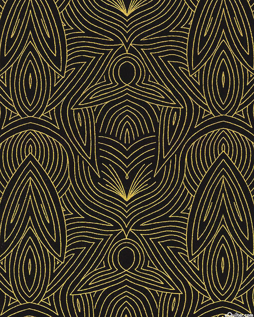 Dwell in Possibility - Metallic Waves - Black/Gold