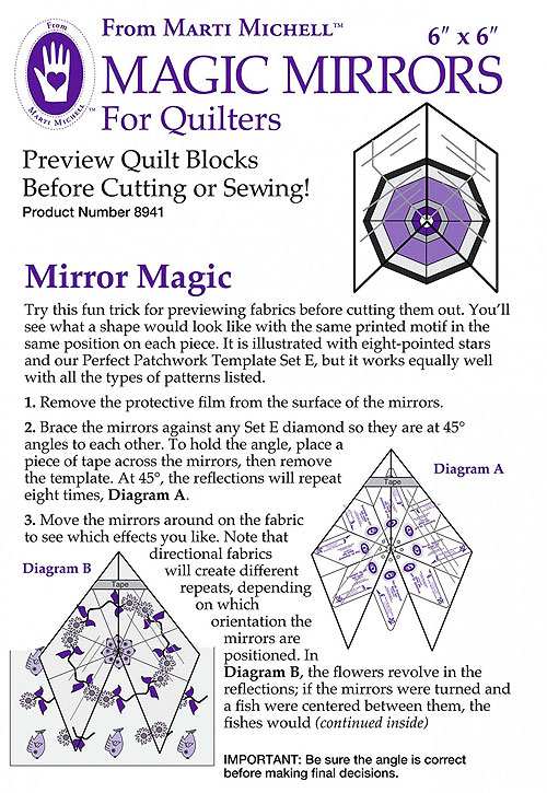 Magic Mirrors For Quilters