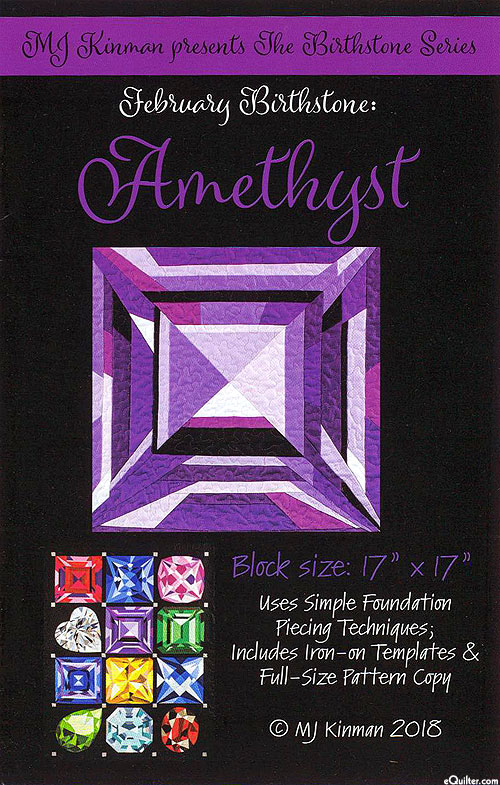Birthstone Pattern - February Amethyst - by MJ Kinman