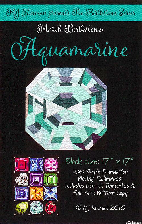 Birthstone Pattern - March Aquamarine - by MJ Kinman