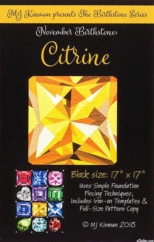 Birthstone Pattern - November Citrine - by MJ Kinman