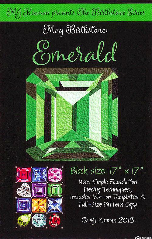 Birthstone Pattern - May Emerald - by MJ Kinman