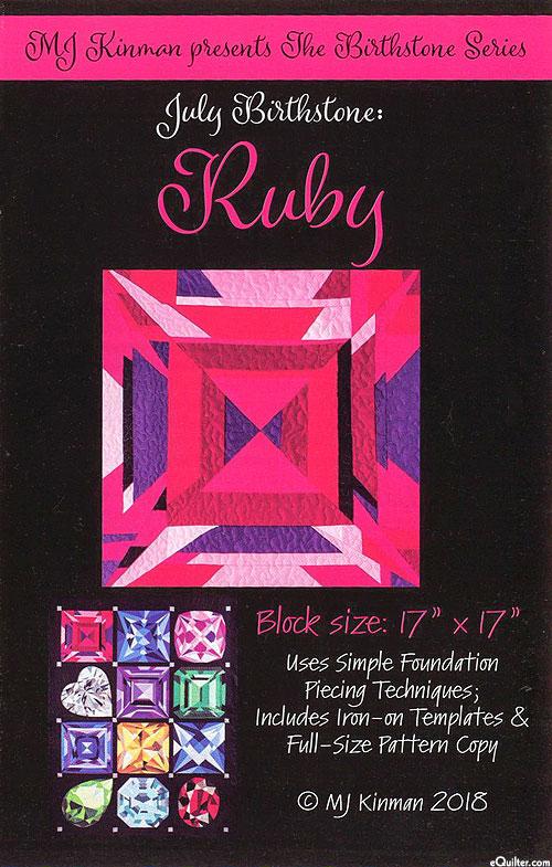 Birthstone Pattern - July Ruby - by MJ Kinman