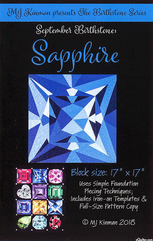 Birthstone Pattern - September Sapphire - by MJ Kinman