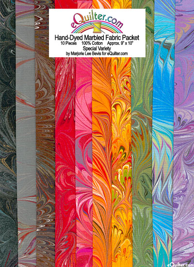 Hand-Dyed Marbled Fabric Packet