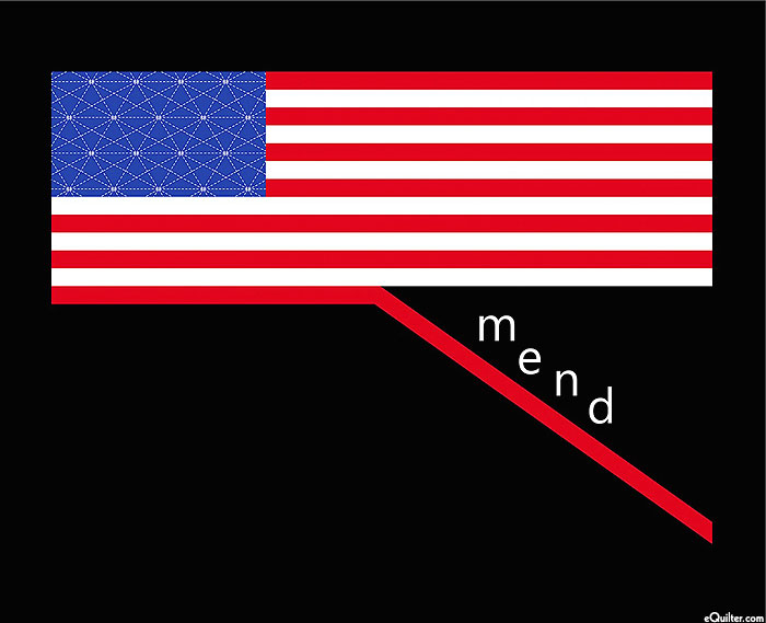 """Mend - Stitching the Flag - 36"""" x 44"""" PANEL"""