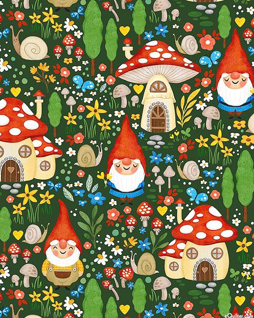 Gnome Sweet Gnome - Gnome Garden - Dk Green