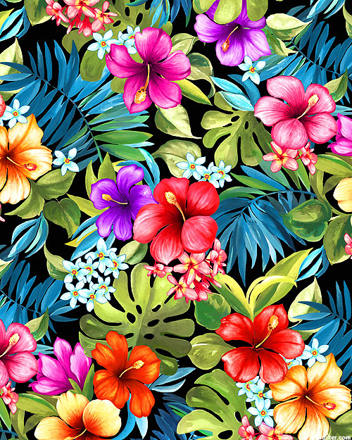 Lost in Paradise - Tropical Bliss - Black - DIGITAL PRINT