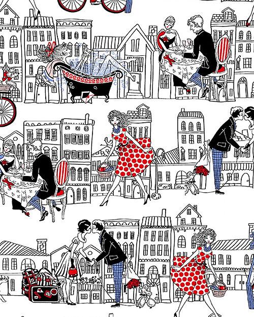 Joie De Vivre - Rue Saint Honore - White