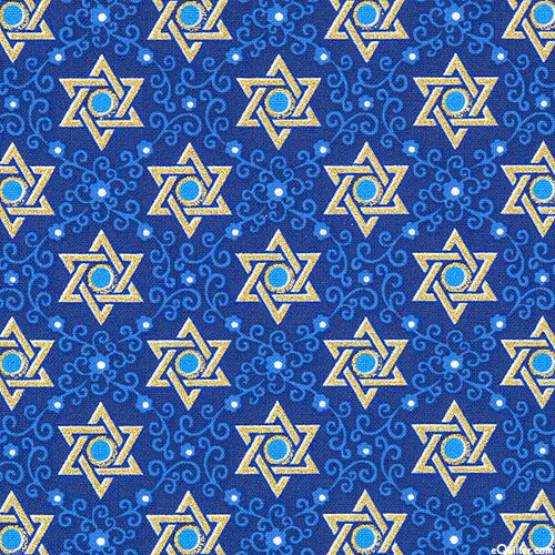 Festival of Lights - Star of Peace - Sapphire Blue/Gold