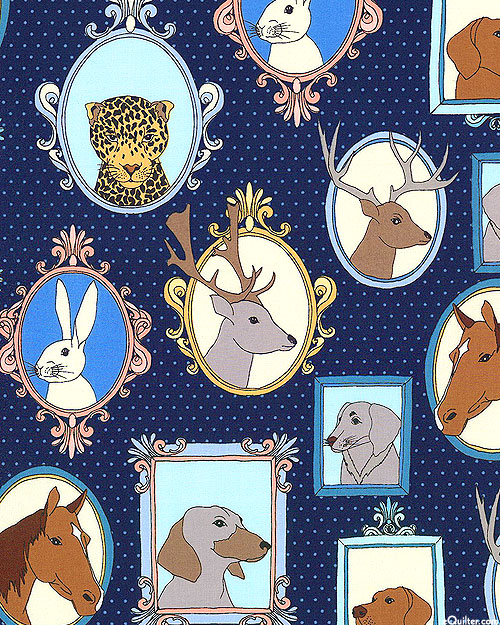Little Animal Portraits - Earthly Pals - Midnight Blue