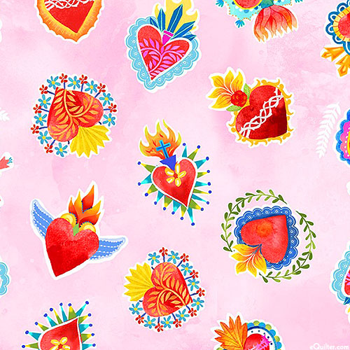La Vida Loca - Sacred Heart - Pastel Pink