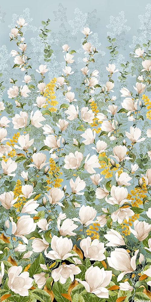 Magnolia - Sweet Blossom Border - Mist Blue