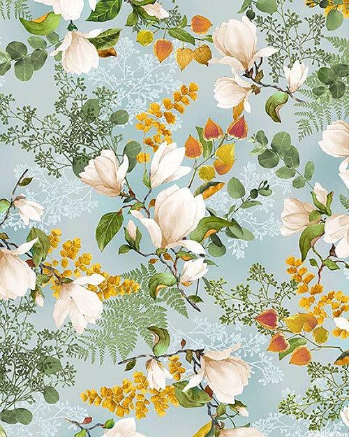Magnolia - Blossom Bouquets - Mist Blue