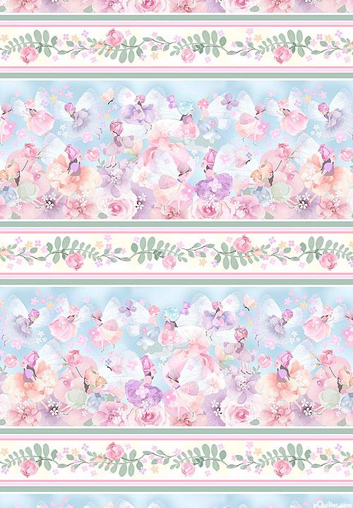 My Heart Flutters - Fairy Flutter Stripe - Dawn Blue - DIGITAL